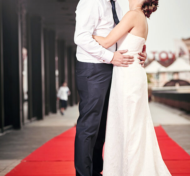 младоженци